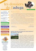 Dossiers de l'Aduga n°1 - Juin 2009