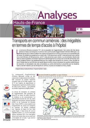 Transports en commun amiénois: des inégalités en termes de temps d'accès à l'hôpital - Insee Analyses Hauts-de-France - N° 95 - Mai 2019