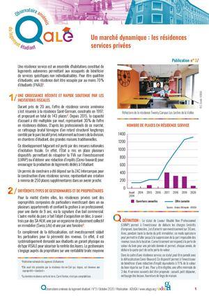 Observatoire amiénois du logement étudiant - N° 3 - Un marché dynamique : les résidences services privées