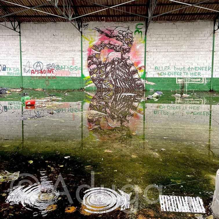 Photo de la semaine. Les graffitis d'une friche industrielle. PIC, Airaines, CC Somme Sud-Ouest
