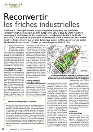 Reconvertir les friches industrielles -  Revue Horticulture & PAYSAGE, N° Février 2015