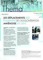 Thema n° 1 - Avril 2016 - Les déplacements des étudiants de l'agglomération amiénoise en 2010