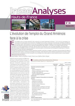 L'évolution de l'emploi du Grand Amiénois face à la crise - Insee Analyses Hauts-de-France, N° 34 - Décembre 2016