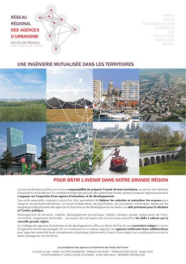 Une ingénierie mutualisée dans les territoires pour bâtir l'avenir dans notre grande région - Réseau régional des agences d'urbanisme des Hauts-de-France