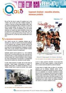 Observatoire amiénois du logement étudiant - N° 4 - Logement étudiant : nouvelles attentes, nouveaux produits